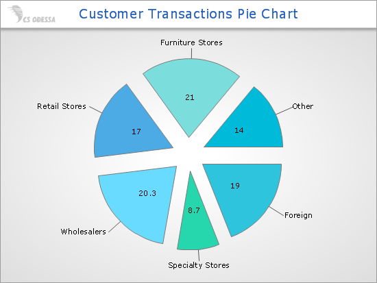 Customer Transactions Pie Chart